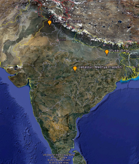 Map of BISA locations in India
